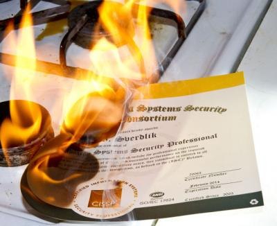 Burning CISSP Cert